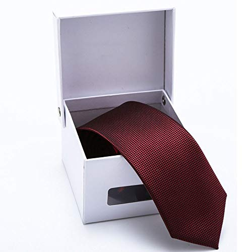 Tie Specification Wine SEESUNGM Personality Business Red Personality Men'S Jacquard 6Cm 8vvxdEq