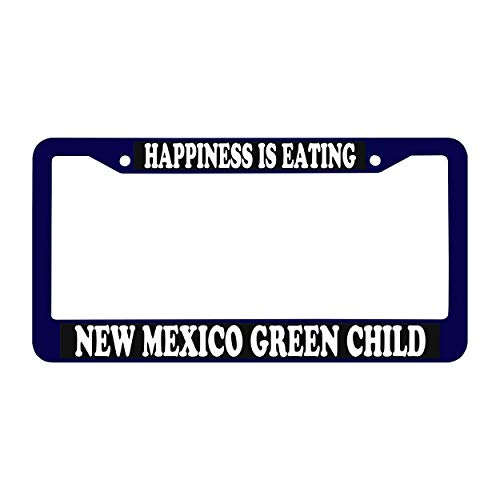 Dub Child Dub Frame (YEX Waterproof Happiness is Eating New Mexico Green Child Customizable License Plate Frame Car Tag Frame Auto License Plate Holder 12