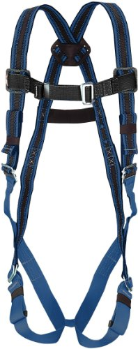 Miller by Honeywell E650D-7/XXLBL DuraFlex 650 Series Full-Body Stretchable Harness with Mating Buckle Legs Straps and Side D-Rings, XX-Large, Blue -