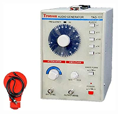 PROGLEAM Signal Generator, 110V/220V TAG-101 Low Frequency Audio Signal Generator Source 10Hz-1MHz 600?