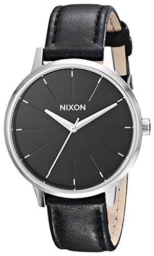 NIXON Kensington Leather A108 - Black - 50m Water Resistant Women's Analog Classic Watch (37mm Watch Face, 16mm Leather Band)