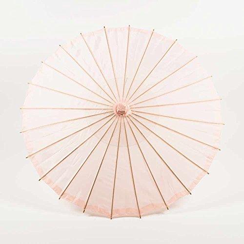 PaperLanternStore.com 28 Inch Rose Quartz Pink Parasol Umbrella, Premium Nylon