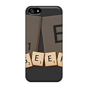 USMONON Phone cases Geek Scrabble Case Compatible With Iphone Iphone 5 5s/ Hot Protection Case