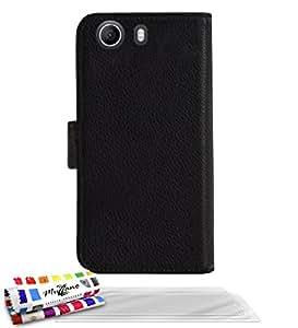 Muzzano F1413456 - Funda para Wiko RIDGE 4G + 3 protecciones de pantalla, color negro