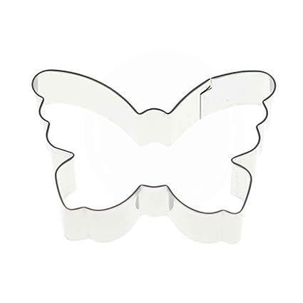 Elenxs Forma de la Mariposa Molde de Acero Inoxidable Postre de la Galleta Cortador de la
