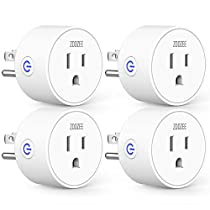 Smart Plug Mini WiFi Outlet Wireless Socket Compatible with Alexa, Echo,Google Home and IFTTT, ZOOZEE Smart Plug WiFi Socket with Timer Function,No Hub Required, White