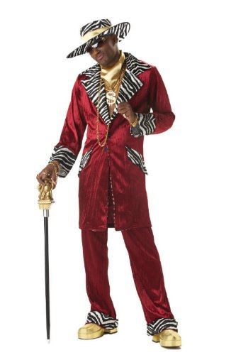 California Costumes Men's Sweet Daddy Beaujolais Costume, Large 42-44 (Pimps And Hoe Party Costumes)