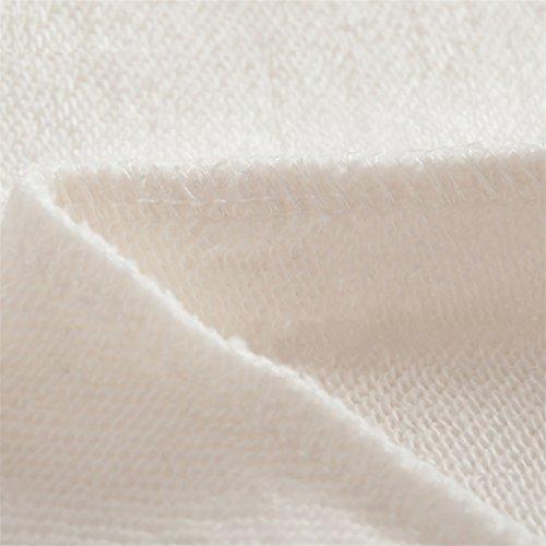 Yeesea Mujers con Capucha del Suéter Camisa Corta Otoño Camisetas De Manga Larga Sudaderas Crop Tops Blanco
