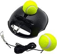 TaktZeit Tennis Trainer Rebound Baseboard Self Tennis Training Tool Ball Back Training Gear with 2 String Ball