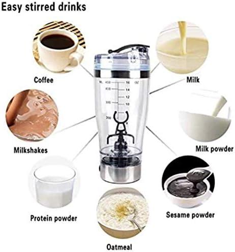 Centrifugeuse de Pp en acier inoxydable Presse-agrumes électrique multifonction Café du Sport Accueil Coupe Bureau Transparent Milkshake Mix SKYJIE