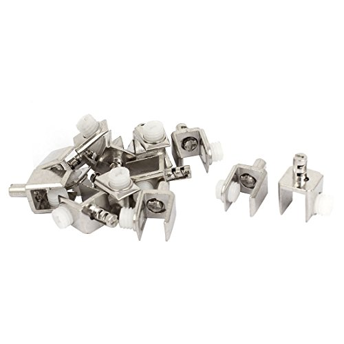 6mm-8mm Thickness Adjustable Screw Zinc Alloy Glass Clip Clamp 12 Pcs - Glass Shelf Clamp
