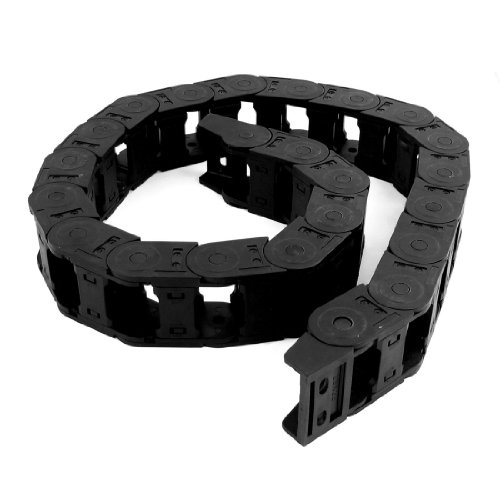 Copapa 1Meter Long Black Cable Wire Carrier Drag Chain Nested 25x38