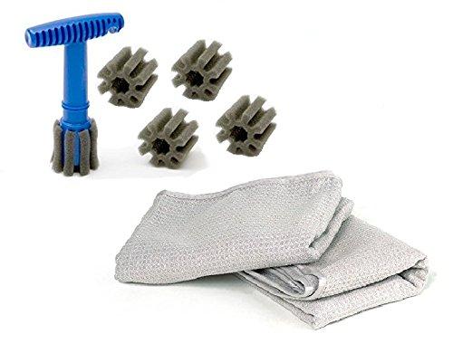 [해외]핸들 피팅과 탈착식 인서트가있는 폼 피팅 러그 너트 휠 클리닝 브러시/Form fitting Lug Nut Wheel Cleaning Brush with handle and removable insert