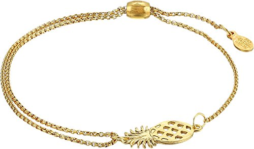 Alex and Ani Women's Pineapple Pull Chain Bracelet, 14kt Gold Plated ()