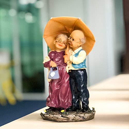 DreamsEden Loving Elderly Couple Figurines, Old Age Life