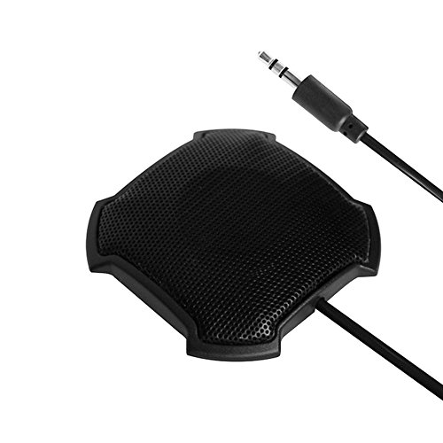 eBerry Boundary Omnidirectional Condenser Microphone, 3.5mm Plug Stereo Desktop Mic Surface Mounted (Omni Directional Stereo Microphone)