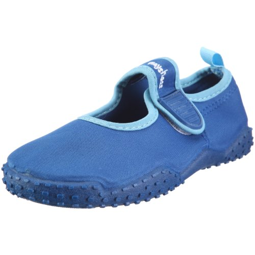 Playshoes Children's Aqua Beach Water Shoes (11.5 M US Little Kid, Blue) by Playshoes (Image #1)