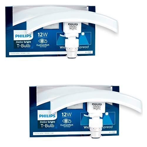 PHILIPS 12 Watt B22 LED Cool Day Light Bulb, Pack of 2 (White)