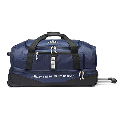 High Sierra Pathway 28-Inch Wheeled Drop-Bottom Duffel - Extra-large Rolling Duffel Bag with Wheels - Men's Wheeled Duffel Bag with Retractable Handle