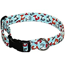 Elmou0027s Closet Foxes Dog Collar   Medium