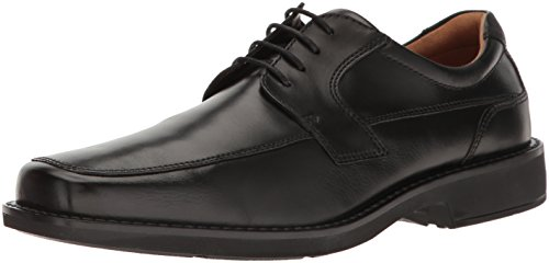 Derby Ecco - ECCO Men's Seattle Apron Toe Tie Oxford Black, 44 EU/10-10.5 M US