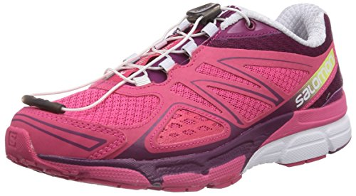 X Compétition 3D Salomon Chaussures Purple Hot Running Pink de White Mystic Scream Femme Rose qdUUw6