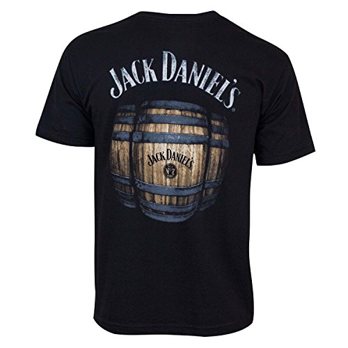 Jack Daniels Men's Daniel's Barrels T-Shirt Black XX-Large