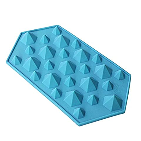 27 Cavities Crystal Silicone Ice Mold Candy,Prettymenny's Diamond Mold Ice Cube Tray (Blue)