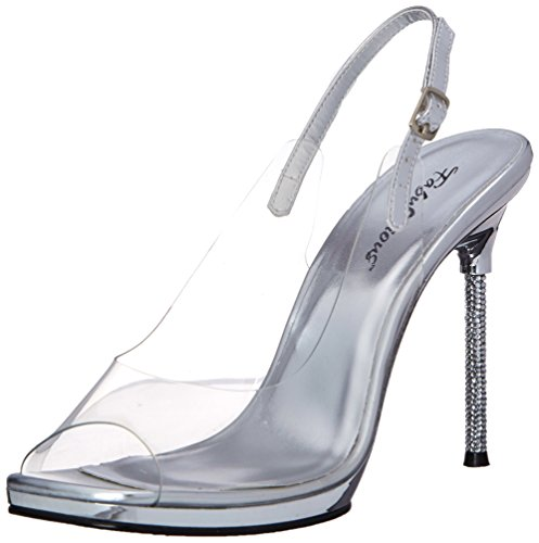 Fabulicious Women's Chic 18 Dress Sandal Clear Silver BbOFWn