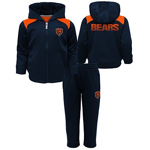 Outerstuff NFL Chicago Bears Kids Play Action Performance Fleece Set, Deep Obsidian, Kids ()