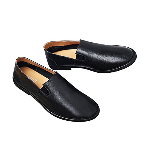 Black Brown Loafers 2 Driving Mens Leather Flat Dark Lisianthus xpa0Swgp
