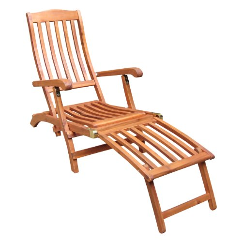 Brass Outdoor Chair - International Concepts Steamer Chair with Brass Plated Hardware