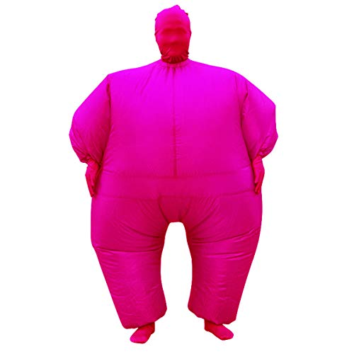 Inflatable Fancy Men's Chub Fat Masked Suit Dress Blow Up Halloween Party Costume -