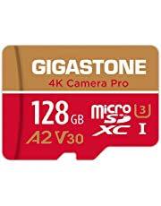 Gigastone 128GB micro SD geheugenkaart, 4K Camera Pro, SDXC UHS-I A2 U3 V30, 100/50 MB/s lees- en schrijfsnelheid, UHD 4K video opname, geschikt voor Nintendo Switch, Compactcamera's, GoPro action cam, Android Smartphones, micro sd card