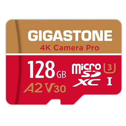 Gigastone Tarjeta Micro SD de 128 GB,  vídeo 4K  para GoPro