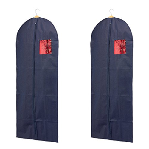 H & L Russel Non-Woven Dress Cover Bag, Navy Blue, Pack of 2 H & L Russel Ltd WS7162BB2