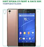 Royal Touch (R) Sony Xperia Z3 ( Front + Back Side ) 9H Premium Tempered glass screen protector with free Installation Kit
