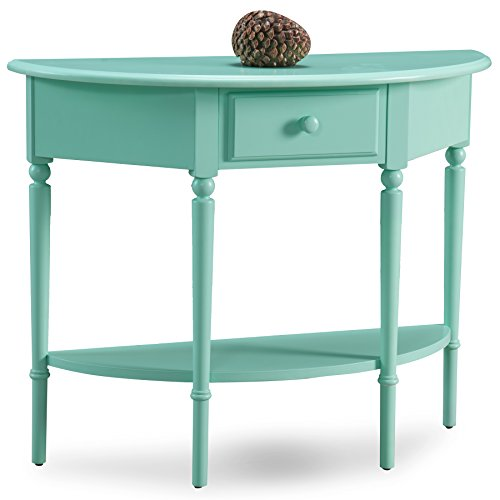 Leick 20036-GN Coastal Demilune Hall Stand/Sofa Table with Shelf, Kiwi Green