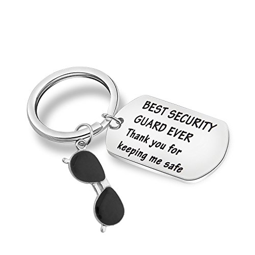 MAOFAED Security Guard Gift Thanks for Keeping Me Safe Security Guard Appreciation Thank You Gift (Security Guard Keychain)