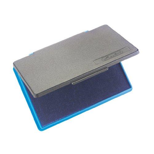 Herlitz Stempelkissen, 1 Stück in Hängepackung, 7 x 11 cm, blaue ölfreie Stempelfarbe
