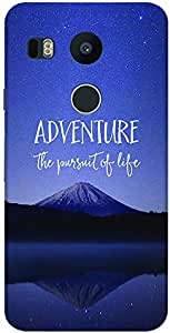 Stylizedd Google Nexus 5X Slim Snap Case Cover Matte Finish - Adventure