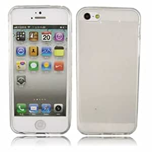 Gel Cubrir Caso Piel Para Apple iPhone 5 / Off White