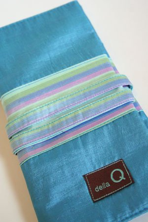 Ocean//Stripe Della Q 180 Interchangeable Needle Case