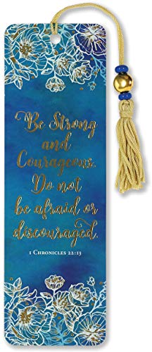 Be Strong and Courageous Beaded Bookmark (Bookmarks Women)
