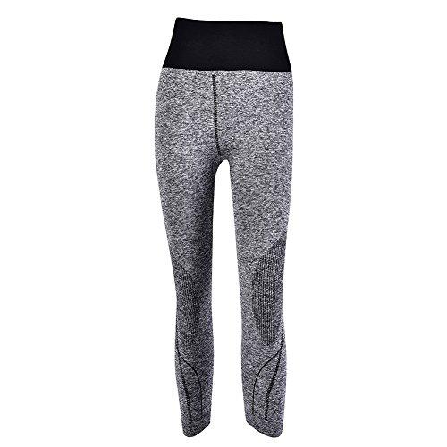 puseky Vrouwen Sport Yoga Broek Fitness 3/4 Lengte Hoge Taille Elastische Strakke Broek Legging Voor Training Yoga…