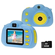 Cocopa Camera for Kids Cameras for Girls Video Camera 32 GB TF Card Toys for 5 4 6 Years Old Girls Selfie Digital…