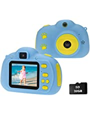 $23 » Cocopa Camera for Kids Cameras for Girls Video Camera 32 GB TF Card Toys for 5 4 6 Years Old Girls Selfie Digital Cameras for Children Birthday Gifts for Girls Aged 7 8 9 10 Toddlers (Blue)