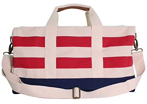 Colorblock Duffel Nautical Striped Red & Navy by CB Station