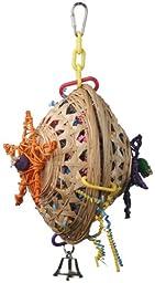 Super Bird Creations 10 by 7-Inch Basket Case Bird Toy, Medium