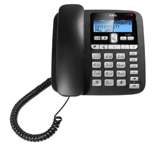 AEG VOXTEL C115 schnurgebundenes Telefon mit LC-Display und Anrufbeantworter